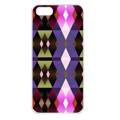Geometric Abstract Background Art Apple Iphone 5 Seamless Case (white) by Nexatart
