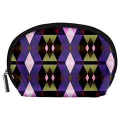 Geometric Abstract Background Art Accessory Pouches (large)