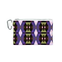 Geometric Abstract Background Art Canvas Cosmetic Bag (s) by Nexatart