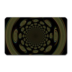 Dark Portal Fractal Esque Background Magnet (rectangular) by Nexatart