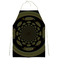 Dark Portal Fractal Esque Background Full Print Aprons