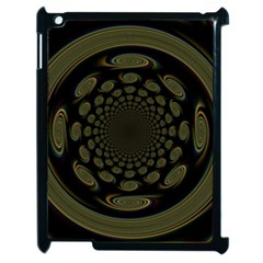 Dark Portal Fractal Esque Background Apple Ipad 2 Case (black) by Nexatart