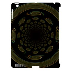 Dark Portal Fractal Esque Background Apple Ipad 3/4 Hardshell Case (compatible With Smart Cover)