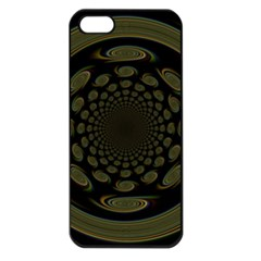 Dark Portal Fractal Esque Background Apple Iphone 5 Seamless Case (black) by Nexatart