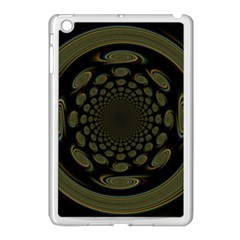 Dark Portal Fractal Esque Background Apple Ipad Mini Case (white) by Nexatart