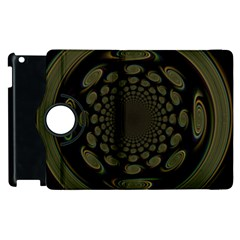 Dark Portal Fractal Esque Background Apple Ipad 2 Flip 360 Case