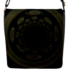 Dark Portal Fractal Esque Background Flap Messenger Bag (s) by Nexatart