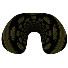 Dark Portal Fractal Esque Background Travel Neck Pillows by Nexatart