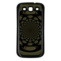 Dark Portal Fractal Esque Background Samsung Galaxy S3 Back Case (black) by Nexatart