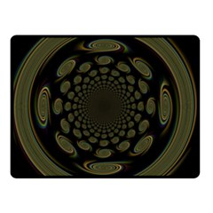 Dark Portal Fractal Esque Background Double Sided Fleece Blanket (small)
