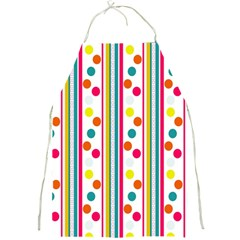 Stripes And Polka Dots Colorful Pattern Wallpaper Background Full Print Aprons