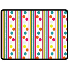 Stripes And Polka Dots Colorful Pattern Wallpaper Background Fleece Blanket (large)
