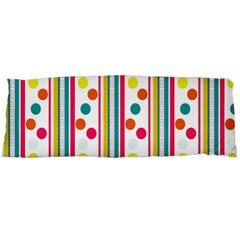 Stripes And Polka Dots Colorful Pattern Wallpaper Background Body Pillow Case (dakimakura) by Nexatart
