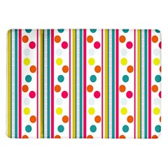 Stripes And Polka Dots Colorful Pattern Wallpaper Background Samsung Galaxy Tab 10 1  P7500 Flip Case by Nexatart