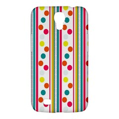 Stripes And Polka Dots Colorful Pattern Wallpaper Background Samsung Galaxy Mega 6 3  I9200 Hardshell Case