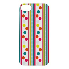 Stripes And Polka Dots Colorful Pattern Wallpaper Background Apple Iphone 5s/ Se Hardshell Case