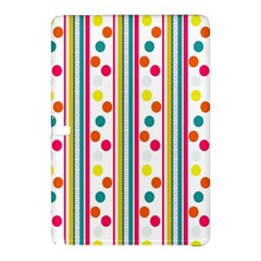 Stripes And Polka Dots Colorful Pattern Wallpaper Background Samsung Galaxy Tab Pro 10 1 Hardshell Case by Nexatart