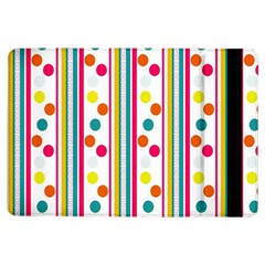 Stripes And Polka Dots Colorful Pattern Wallpaper Background Ipad Air Flip