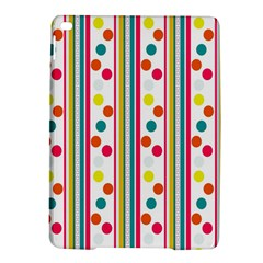 Stripes And Polka Dots Colorful Pattern Wallpaper Background Ipad Air 2 Hardshell Cases by Nexatart