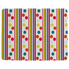 Stripes And Polka Dots Colorful Pattern Wallpaper Background Jigsaw Puzzle Photo Stand (rectangular) by Nexatart