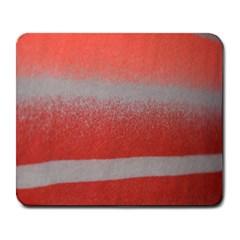 Orange Stripes Colorful Background Textile Cotton Cloth Pattern Stripes Colorful Orange Neo Large Mousepads by Nexatart