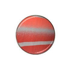 Orange Stripes Colorful Background Textile Cotton Cloth Pattern Stripes Colorful Orange Neo Hat Clip Ball Marker by Nexatart