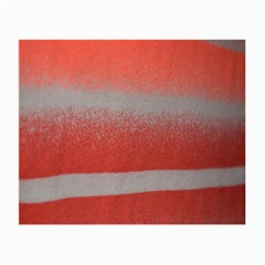 Orange Stripes Colorful Background Textile Cotton Cloth Pattern Stripes Colorful Orange Neo Small Glasses Cloth (2 Side) by Nexatart
