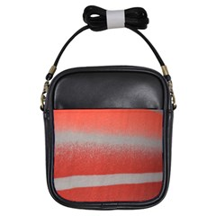 Orange Stripes Colorful Background Textile Cotton Cloth Pattern Stripes Colorful Orange Neo Girls Sling Bags by Nexatart