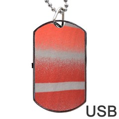 Orange Stripes Colorful Background Textile Cotton Cloth Pattern Stripes Colorful Orange Neo Dog Tag USB Flash (One Side) by Nexatart