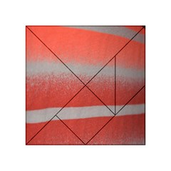 Orange Stripes Colorful Background Textile Cotton Cloth Pattern Stripes Colorful Orange Neo Acrylic Tangram Puzzle (4  X 4 ) by Nexatart