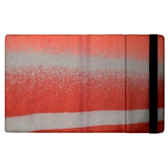 Orange Stripes Colorful Background Textile Cotton Cloth Pattern Stripes Colorful Orange Neo Apple Ipad 3/4 Flip Case by Nexatart