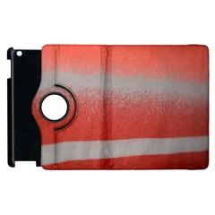 Orange Stripes Colorful Background Textile Cotton Cloth Pattern Stripes Colorful Orange Neo Apple Ipad 3/4 Flip 360 Case by Nexatart