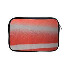 Orange Stripes Colorful Background Textile Cotton Cloth Pattern Stripes Colorful Orange Neo Apple Ipad Mini Zipper Cases by Nexatart
