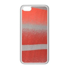Orange Stripes Colorful Background Textile Cotton Cloth Pattern Stripes Colorful Orange Neo Apple Iphone 5c Seamless Case (white)