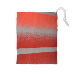 Orange Stripes Colorful Background Textile Cotton Cloth Pattern Stripes Colorful Orange Neo Drawstring Pouches (large)  by Nexatart