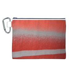 Orange Stripes Colorful Background Textile Cotton Cloth Pattern Stripes Colorful Orange Neo Canvas Cosmetic Bag (l) by Nexatart