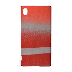 Orange Stripes Colorful Background Textile Cotton Cloth Pattern Stripes Colorful Orange Neo Sony Xperia Z3+ by Nexatart