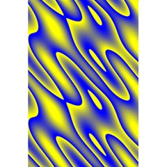 Blue Yellow Wave Abstract Background 5 5  X 8 5  Notebooks by Nexatart