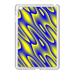 Blue Yellow Wave Abstract Background Apple Ipad Mini Case (white) by Nexatart