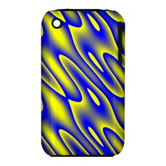 Blue Yellow Wave Abstract Background Iphone 3s/3gs by Nexatart