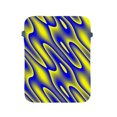 Blue Yellow Wave Abstract Background Apple Ipad 2/3/4 Protective Soft Cases by Nexatart