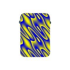 Blue Yellow Wave Abstract Background Apple Ipad Mini Protective Soft Cases by Nexatart