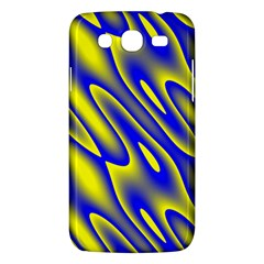 Blue Yellow Wave Abstract Background Samsung Galaxy Mega 5 8 I9152 Hardshell Case
