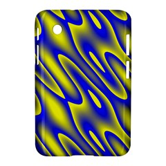 Blue Yellow Wave Abstract Background Samsung Galaxy Tab 2 (7 ) P3100 Hardshell Case  by Nexatart
