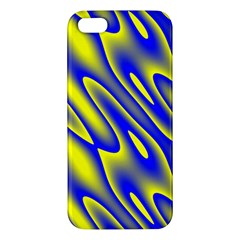 Blue Yellow Wave Abstract Background Iphone 5s/ Se Premium Hardshell Case