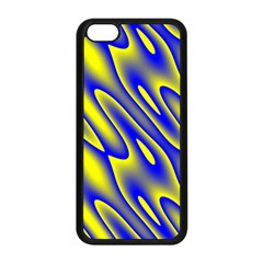 Blue Yellow Wave Abstract Background Apple Iphone 5c Seamless Case (black) by Nexatart