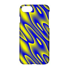 Blue Yellow Wave Abstract Background Apple Iphone 7 Hardshell Case by Nexatart