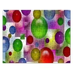 Colored Bubbles Squares Background Rectangular Jigsaw Puzzl by Nexatart