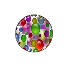 Colored Bubbles Squares Background Hat Clip Ball Marker by Nexatart