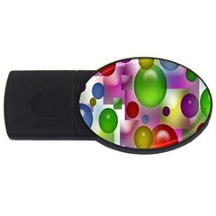 Colored Bubbles Squares Background Usb Flash Drive Oval (4 Gb) by Nexatart